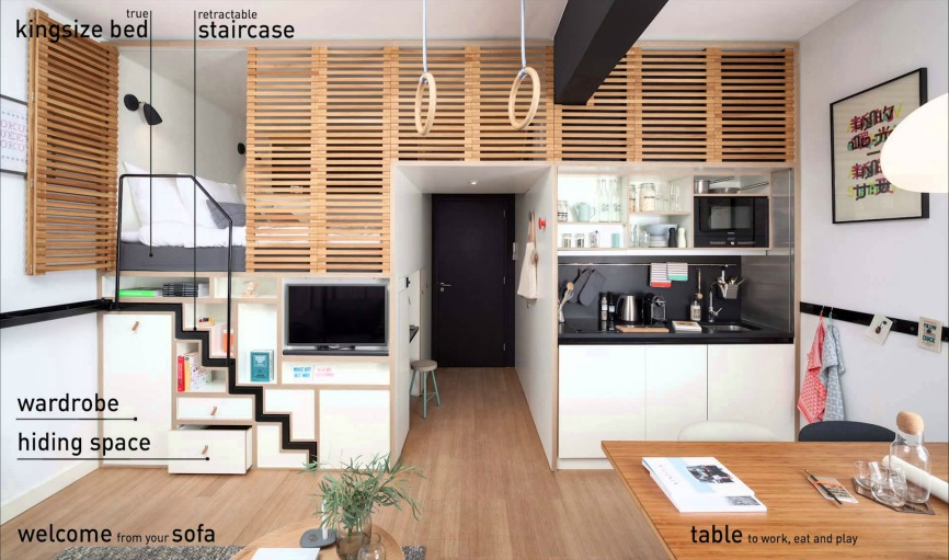 Micro apartments affordable new homes with magical space for Micro living apartment