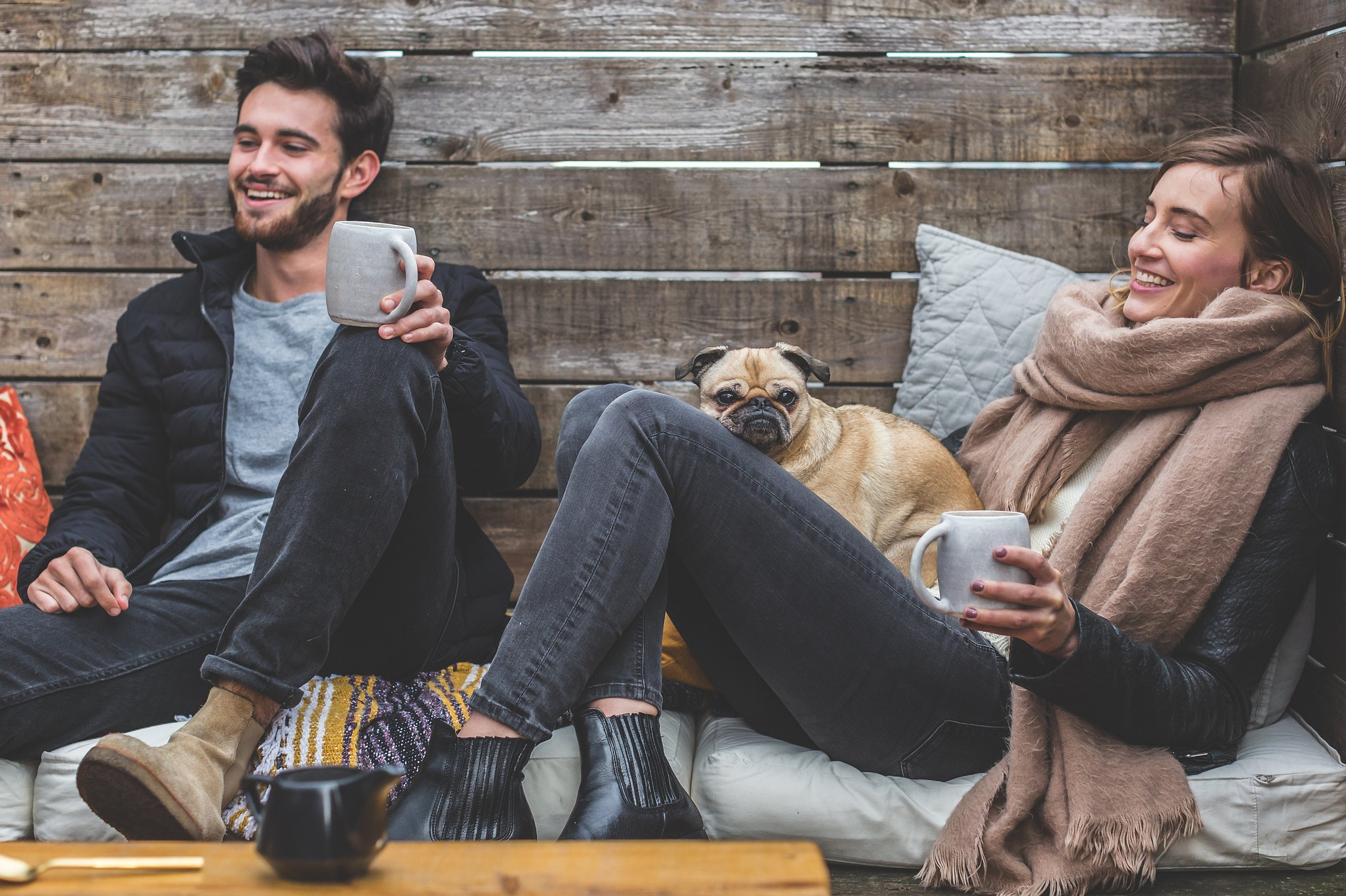 relaxed couple first time buyers