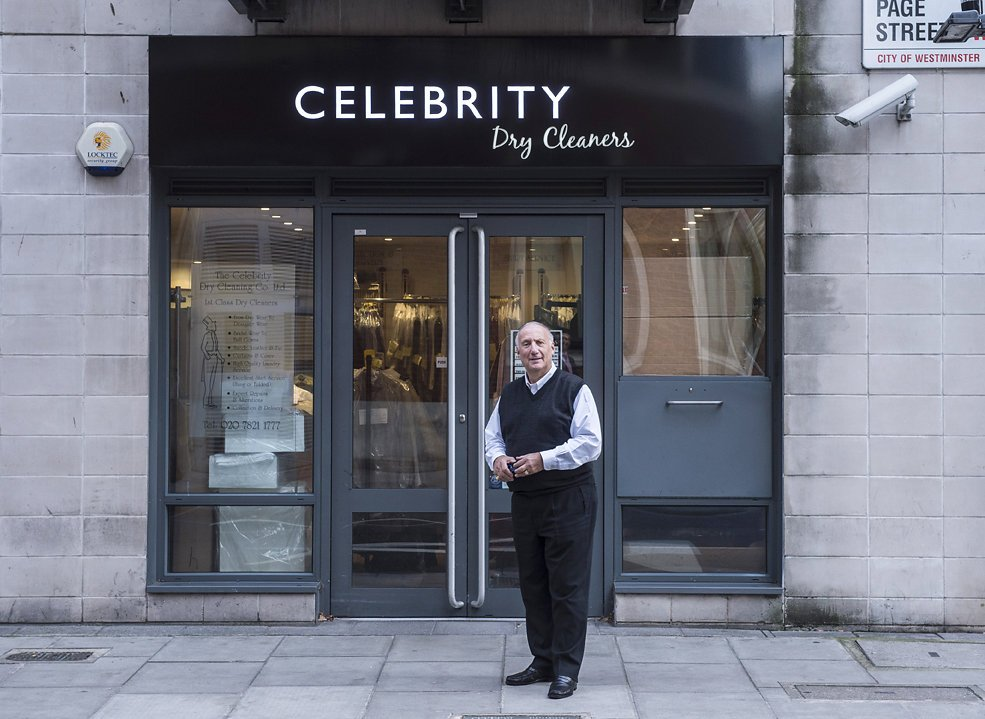 Celebrity Dry Cleaners Shop Front Owner1 - Daniel Cobb - Locally grown