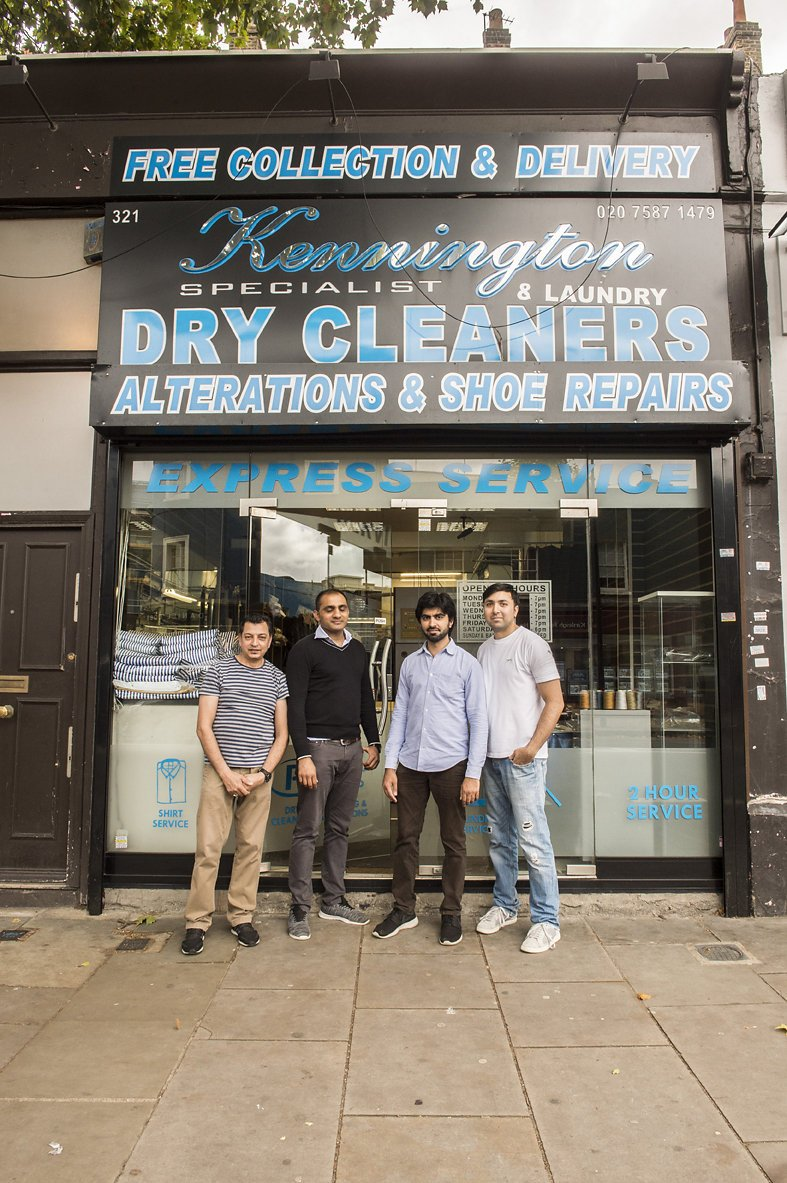 kennington dry cleaners team store front - Daniel Cobb - Locally grown