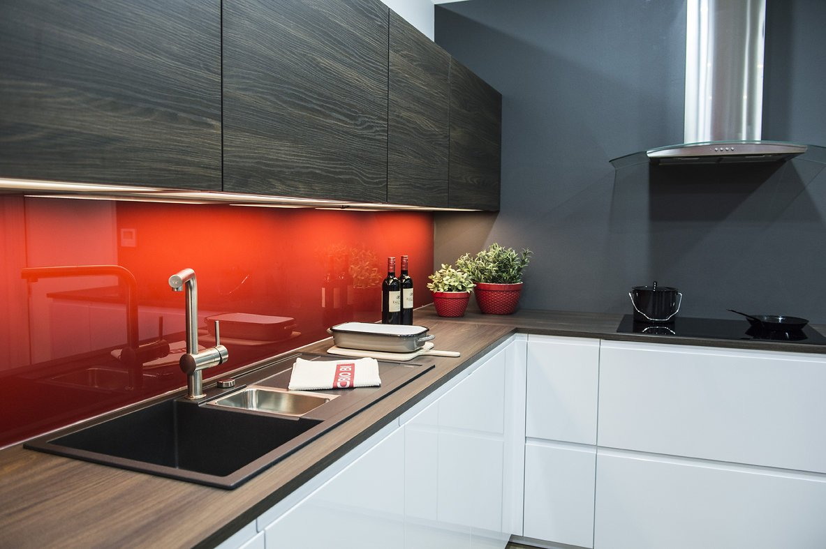 Nolte Kitchens red back splash