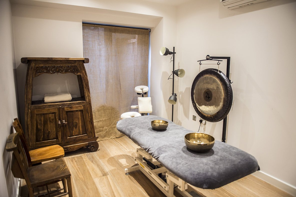 the lodge space massage room